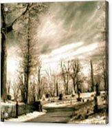 Toned Infrared Graveyard  Acrylic Print