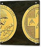 Tonto Apache Tribe Code Talkers Bronze Medal Art Acrylic Print