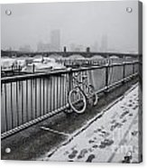 Too Cold To Cycle Acrylic Print