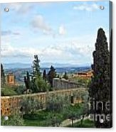 Top Of A Hill Town Acrylic Print