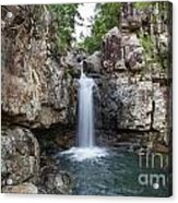 Top Of Cidar Falls Acrylic Print by Shannon Rogers