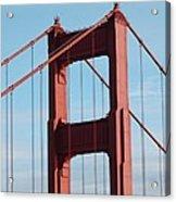 Top Of Golden Gate Bridge Acrylic Print