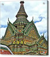 Top Of Temple In Wat Po In Bangkok-thailand Acrylic Print