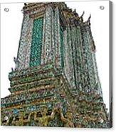 Top Of Temple Of The Dawn-wat Arun In Bangkok-thailand Acrylic Print