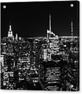 Top Of The Rock In Black And White Acrylic Print