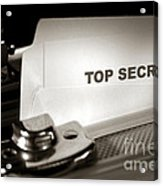 Top Secret Document In Armored Briefcase Acrylic Print