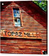 Topaz Acrylic Print by Marty Koch
