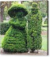 Topiary Couple Acrylic Print