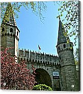 Topkapi Palace Wall And Gate In Istanbul-turkey Acrylic Print