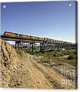 Topock Bridge Freight Acrylic Print