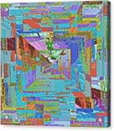 Topographic Albatross Acrylic Print