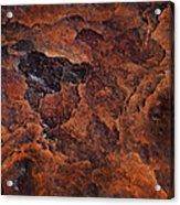 Topography Of Rust Acrylic Print