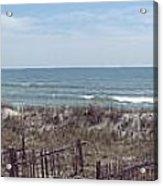 Topsail Beach Panorama 2 Acrylic Print