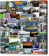 Topsail Island Nc Collage  Acrylic Print