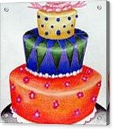 Topsy Turvy Cake Acrylic Print