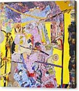Topsy Turvy World Yellow Acrylic Print