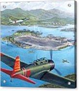 Tora Tora Tora The Attack On Pearl Harbor Begins Acrylic Print by Stu Shepherd