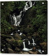 Torc Waterfall Acrylic Print by Peter Skelton