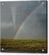 Tornado And The Rainbow Acrylic Print
