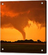 Tornado Sunset Acrylic Print