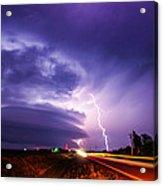 Tornado Warning In Northern Buffalo County Acrylic Print