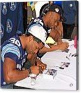 Toronto Argonauts Players Signing Autographs Acrylic Print by Valentino Visentini