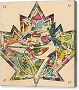 Toronto Blue Jays Poster Art Acrylic Print
