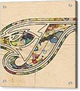 Toronto Blue Jays Poster Vintage Acrylic Print