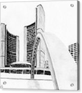 Toronto City Hall II Study Acrylic Print