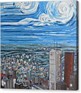 Toronto Cn Tower Veiw North East Acrylic Print