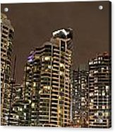 Toronto Condos On A Cold Winter Night Acrylic Print