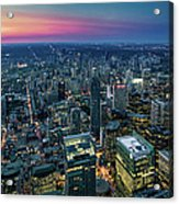 Toronto Downtown City At Night Acrylic Print