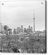 Toronto In Black And White Acrylic Print