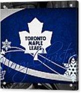 Toronto Maple Leafs Christmas Acrylic Print