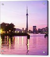 Toronto Skyline At Sunset, Toronto Acrylic Print