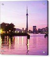 Toronto Skyline At Sunset, Toronto Acrylic Print by Peter Mintz