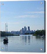 Toronto Skyline From Tommy Thompson Park Acrylic Print
