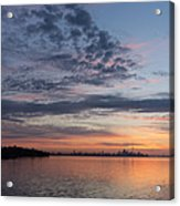 Toronto Skyline In Pastel Blue Pink Yellow Orange And Purple Acrylic Print
