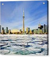 Toronto Skyline In Winter Acrylic Print