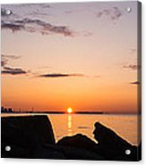 Toronto Skyline Panorama At Sunrise Acrylic Print