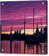 Toronto Skyline - The Boats Are Coming In Acrylic Print