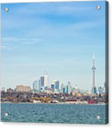Toronto Skylines At The Waterfront Acrylic Print