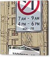 Toronto Street Sign Acrylic Print