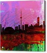 Toronto Watercolor Skyline Acrylic Print