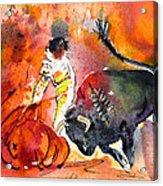 Bullfighting The Reds Acrylic Print