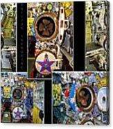 Torpedo Tubes Collage Russian Submarine Acrylic Print