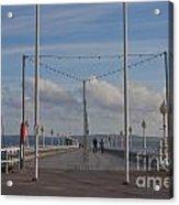 Torquay Pier Devon Acrylic Print