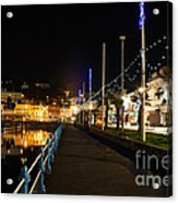 Torquay Victoria Parade At Night Acrylic Print
