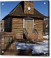 Torrey Log School And Church Utah Acrylic Print