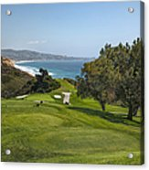 Torrey Pines Golf Course North 6th Hole Acrylic Print by Adam Romanowicz